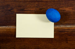 Navy egg with card Royalty Free Stock Photo