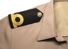 Navy epaulet rank sign in uniform Royalty Free Stock Photo