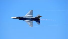 Navy F-14 reaching supersonic speed Royalty Free Stock Photo