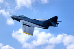 Navy Fighter Jet in flight Royalty Free Stock Photography