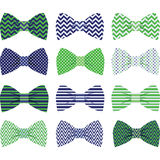 Navy and Green Bow Tie Collection. The vector for  Navy and Green Bow Tie Collection Royalty Free Stock Photos
