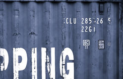 Navy grey China delivery container textured background Stock Photo