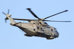 Navy helicopter on departure Stock Photos