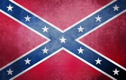 Navy Jack. Confederate rebel flag. stock photo