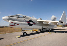 Navy jet airplane Royalty Free Stock Photo