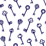 Navy keys on white seamless vector pattern Stock Image