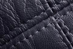 Navy leather background Royalty Free Stock Images