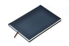 Navy leather notebook Stock Photo