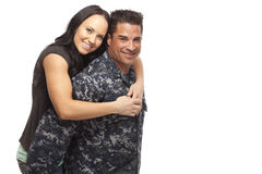 Navy man with his wife Royalty Free Stock Photos