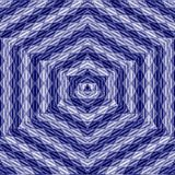 Navy marine patchwork mandala, kaleidoscope, abstract, blossom, see star in triangle mosaic. Stock Images