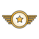 Navy medal with wings Royalty Free Stock Photography
