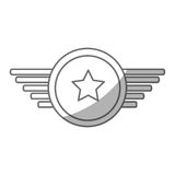 Navy medal with wings Stock Photography