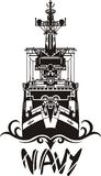 NAVY Military Design - Vector illustration. Royalty Free Stock Photos