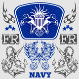 NAVY Military Design - vector illustration Stock Photos