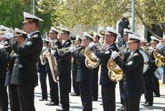 Navy musicians at russian parade May 9, 2009 Royalty Free Stock Images