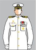 Navy Officer. Illustration clip-art eps Stock Photos