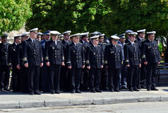 Navy officers Stock Photo