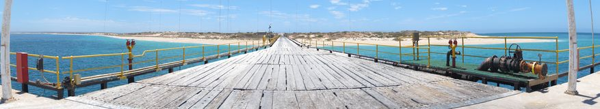 Navy peer, exmouth, western australia Royalty Free Stock Images
