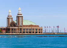 Navy Pier Auditorium. Chicago, USA - May 24, 2014: Navy Pier Auditorium seen from Lake Michigan Stock Photos