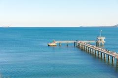 Navy Pier in Bulgarian Burgas Stock Photos