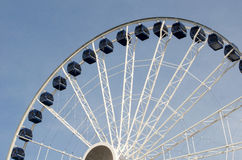 Navy pier Centennial ferris wheel. The Centennial Wheel at Navy Pier, is an iconic part of the Chicago skyline. Soaring to heights of nearly 200 feet, the Wheel royalty free stock photos