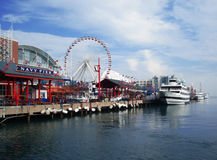 Navy Pier Chicago royalty free stock images