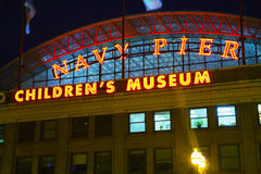 Navy Pier in Chicago in the night Royalty Free Stock Image