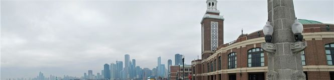 Navy Pier Chicago Panorama stock images