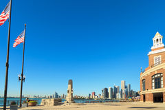 Navy Pier Chicago skyline Stock Image