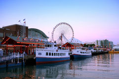 Navy pier Chicago. A view of Navy pier Chicago stock photography