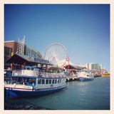 Navy pier Chicago. A view of Navy pier Chicago Stock Photo