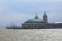 Navy Pier. The end of Navy Pier, as seen from one of the sightseeing cruises along Lake Michigan Stock Photography