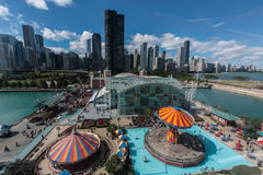 Free Navy Pier In Chicago Royalty Free Stock Photo - 55159095