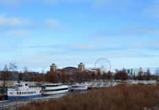 Navy Pier from Lakeshore Drive Royalty Free Stock Images