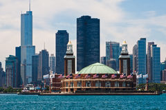 Navy Pier and Modern Buildings Chicago Royalty Free Stock Images
