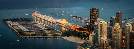 The Navy Pier at Night. Chicago Navy Pier at Night Royalty Free Stock Photo
