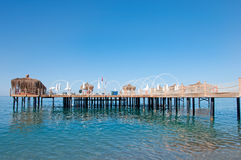Navy Pier with pergolas Stock Images