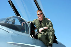 Navy pilot Stock Photography