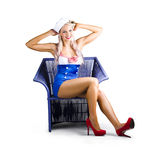 Navy pinup girl Stock Image