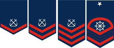 Navy Ranks Stock Image