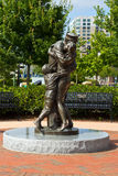 Navy Reunion Statue royalty free stock photography
