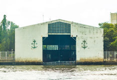 Navy river boat storage available. Stock Image