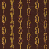 Navy rope and marine knots striped seamless pattern. Royalty Free Stock Photo