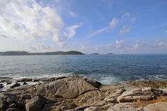 Navy sea and clearly blue sky. View point at Phuket sea Royalty Free Stock Image