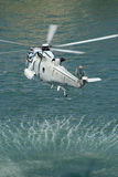 Navy sea king helicopter Stock Images
