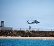 Navy Seahawk Helicopter Maneuvers Near Naval Base Coronado Stock Photos
