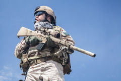 Navy SEAL in action Royalty Free Stock Photography