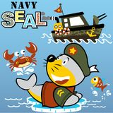 Navy seal cartoon vector Stock Images
