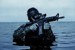Navy SEAL frogman Royalty Free Stock Photo
