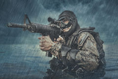 Navy SEAL frogman Royalty Free Stock Image